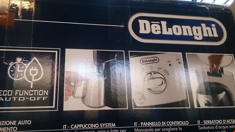 Lot 226 BOXED DELONGHI COFFEE MACHINE  RRP £249.00