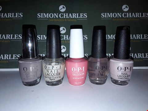 Lot 17 LOT OF 5 ASSORTED OPI NAIL GELS