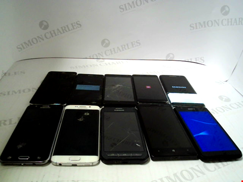 Lot 3376 LOT OF 10 ASSORTED SMARTPHONES; VARIOUS MAKES AND GRADES