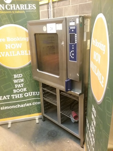 Lot 7 HOBART STAINLESS STEEL 10 TRAY COMBI OVEN ON STAND