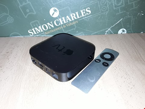 Lot 8235 UNBOXED APPLE TV BOX WITH REMOTE - A1378
