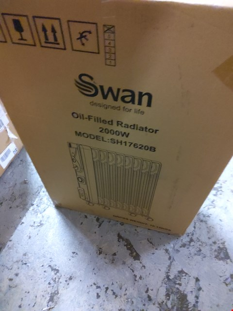 Lot 2427 SWAN SWAN OIL FILLED RADIATOR WITH 24-HOUR TIMER - BLACK/SILVER RRP £80.00