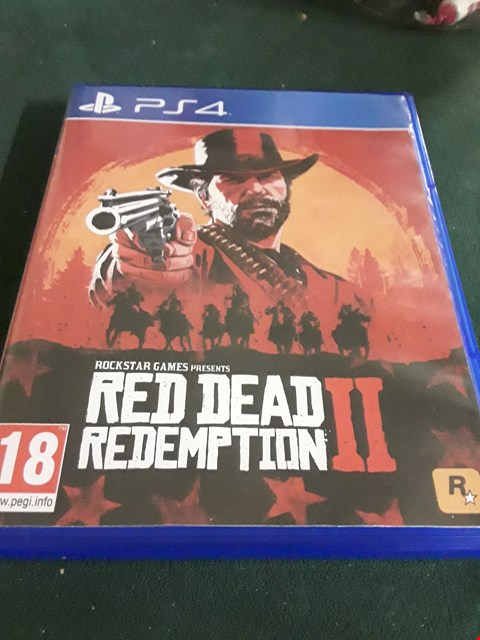 Lot 18032 RED DEAD REDEMPTION 2 FOR PS4 RRP £69.99