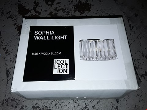 Lot 360 BOXED HOME COLLECTION SOPHIA WALL LIGHT