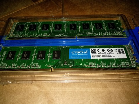 Lot 18762 CRUCIAL 16GB KIT (8GBX2) DDR3L 1600 MT/S