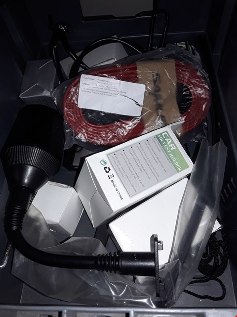Lot 5156 Box of ASSORTED ITEMS to INCLUDE,  air vent PHONE HOLDER, car front bumper lip & more
