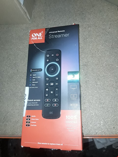 Lot 1508 ONE FOR ALL UNIVERSAL MULTI STREAMING REMOTE