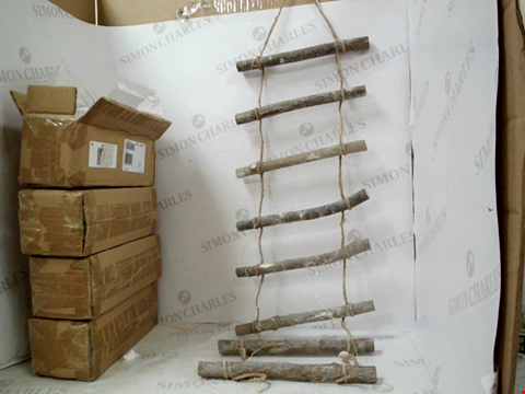 Lot 1291 4 HANGING RUSTIC DECORATION ( EACH APPROX. 70CMS IN LENGH ) EACH WITH 2 AA BATTERIES