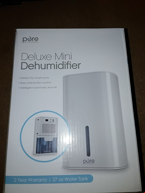 Lot 8034 BOXED PURE DELUXE MINI DEHUMIDIFIER