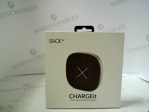 Lot 355 BRAND NEW SACK IT CHARGEIT POWERBANK & WIRELESS CHARGER