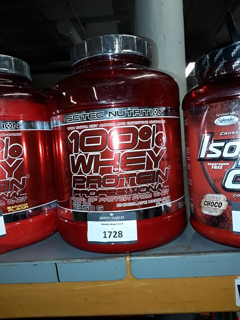Lot 1728 SCITECH NUTRITION 100% WHEY PROTEIN PROFESSIONAL CHOCOLATE HAZELNUT FLAVOUR 2350G