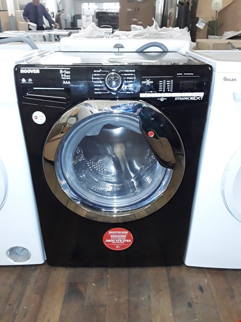 Lot 12002 HOOVER DYNAMIC 8KG WASHING MACHINE IN BLACK/CHROME