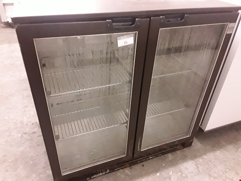 Lot 35 DOUBLE DOOR UNDER COUNTER BOTTLE DISPLAY FRIDGE