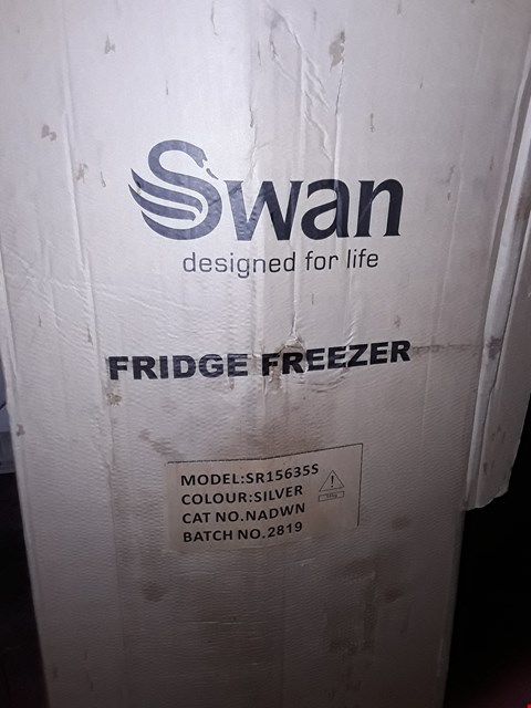 Lot 10069 SWAN SILVER FRIDGE FREEZER WITH WATER DISPENSER  RRP £379.99