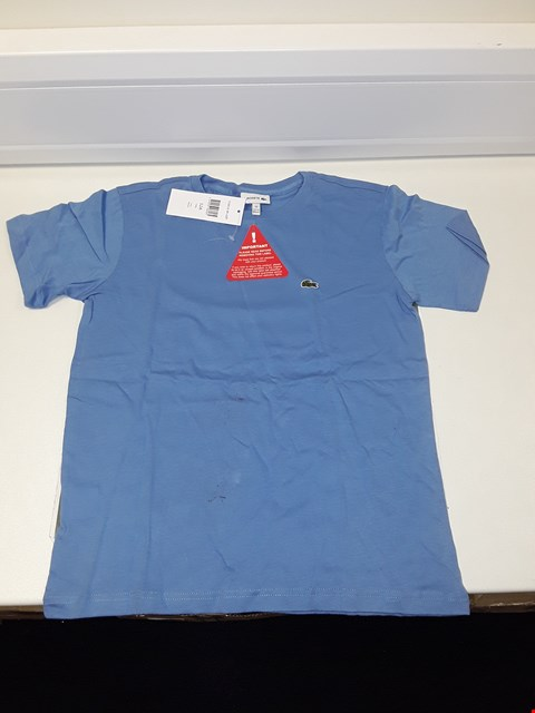 Lot 3313 LACOSTE BOYS T-SHIRT - BLUE SIZE 12 YEARS