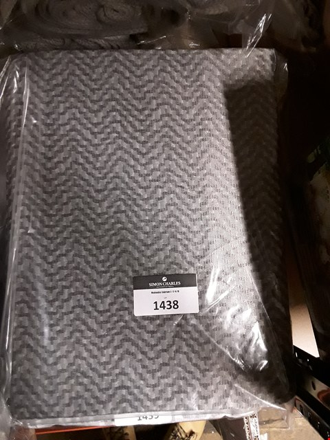 Lot 1438 BRAND NEW VERONA LINED EYELET CURTAINS SMOKE  RRP £89.99
