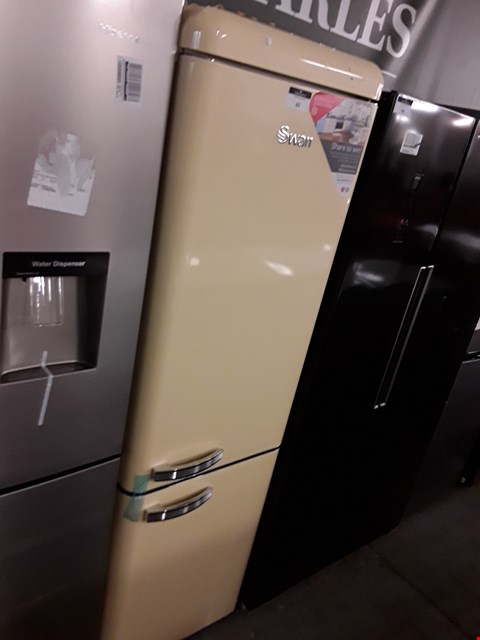 Lot 65 SWAN RETRO STYLE 70/30 FRIDGE FREEZER IN CREAM  RRP £500.00