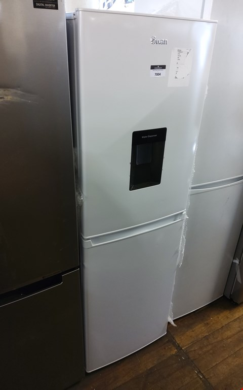Lot 7004 SWAN WHITE 55CM FRIDGE FREEZER WITH WATER DISPENSER