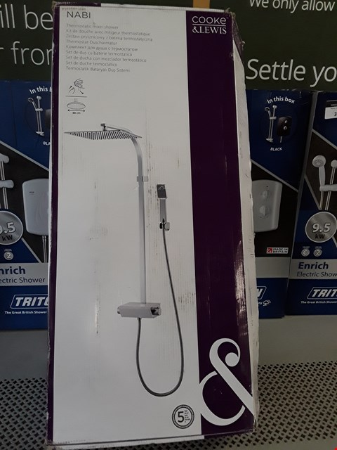 Lot 44 BOXED COOKE & LEWIS NABI THERMOSTATIC MIXER SHOWER RRP £200.00