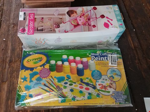 Lot 625 LOT OF 2 ITEMS TO INCLUDE LISSI STROLLER SET, CRAYOLA PAINTING SET