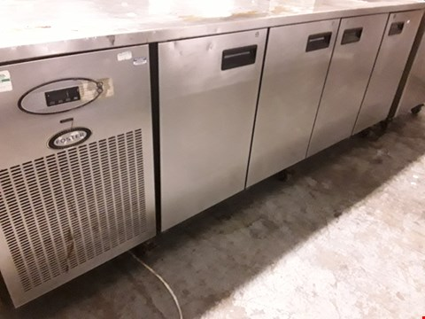Lot 81 FOSTER FOUR DOOR COUNTER FRIDGE