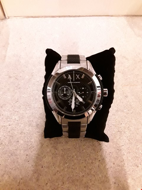 Lot 2247 ARMANI EXCHANGE BLACK DIAL STAINLESS STEEL WATCH RRP £299