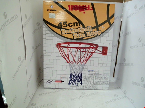 Lot 3012 BOXED SPORTSHERO 45CM BASKETBALL RIM HOOP