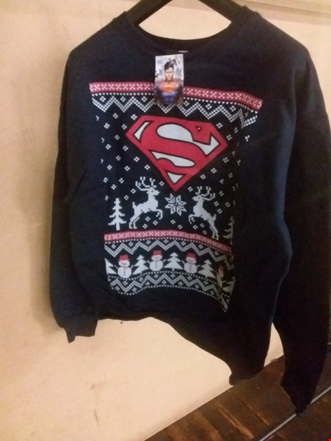 Lot 5094 BRAND NEW BAGGED LARGE SUPERMAN CHRISTMAS SWEATSHIRT