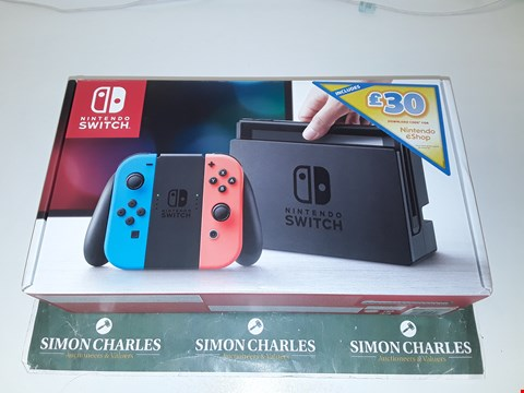 Lot 1244 NINTENDO SWITCH NEON RED/BLUE CONSOLE