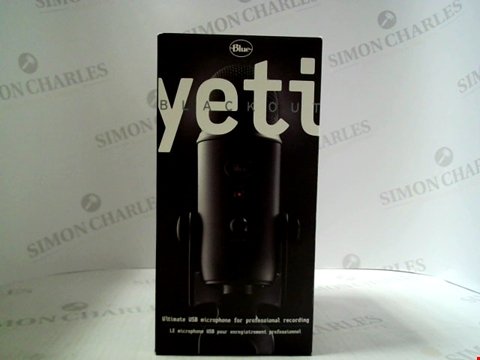 Lot 3055 BLUE YETI BLACKOUT ULTIMATE USB MICROPHONE FOR PROFESSIONAL RECORDING