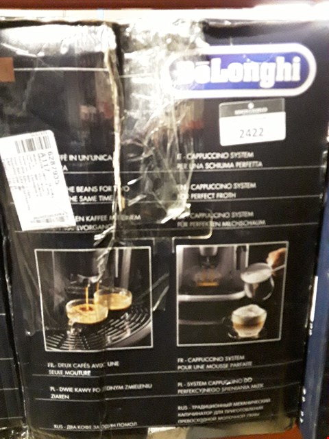 Lot 2422 DELONGHI MAGNIFICA BEAN TO CUP COFFEE MACHINE