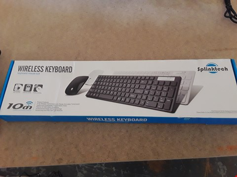 Lot 27 BOXED SPLINKTECH WIRELESS KEYBOARD AND MOUSE SUITE
