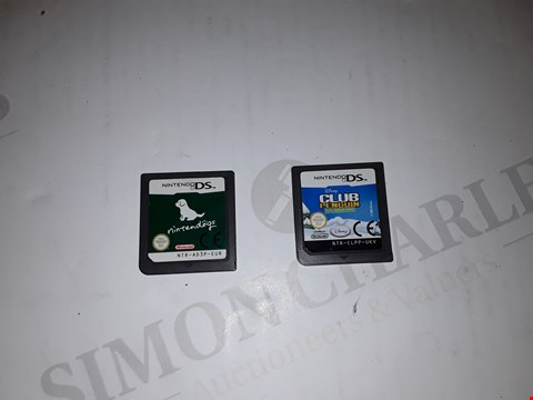 Lot 7172 LOT OF 2 ASSORTED NINTENDO DS GAMES TO INCLUDE CLUB PENGUIN AND NINTENDOGS