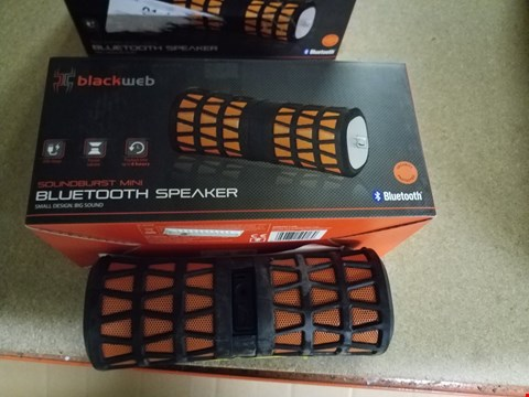 Lot 559 LOT OF APPROXIMATELY 4 BLACK WEB SOUNDBURST MINI BLUETOOTH SPEAKERS
