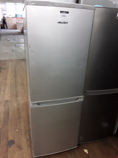 Lot 12051 BUSH SILVER FRIDGE FREEZER