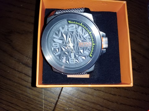 Lot 9272 HUGO BOSS ORANGE GREY DIAL GREEN ACCENT GREY STRAP MENS WATCH RRP £199.00
