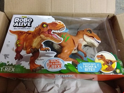Lot 178 LOT OF 2 GRADE 1 ITEMS TO INCLUDE TEDDY SIDE TABLE, ROBOTIC DINOSAUR RRP £70