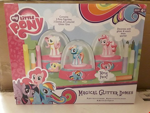 Lot 1828 BOX OF 5 BOXED MY LITTLE PONY MAGICAL GLITTER DOMES