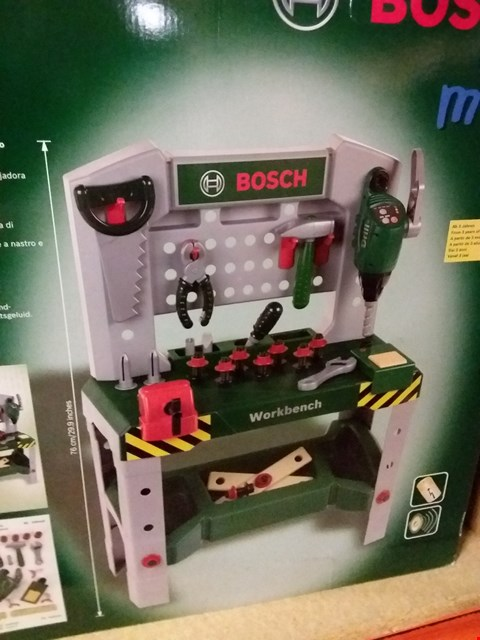 Lot 12825 BOSCH MINI WORK BENCH WITH SOUND EFFECTS
