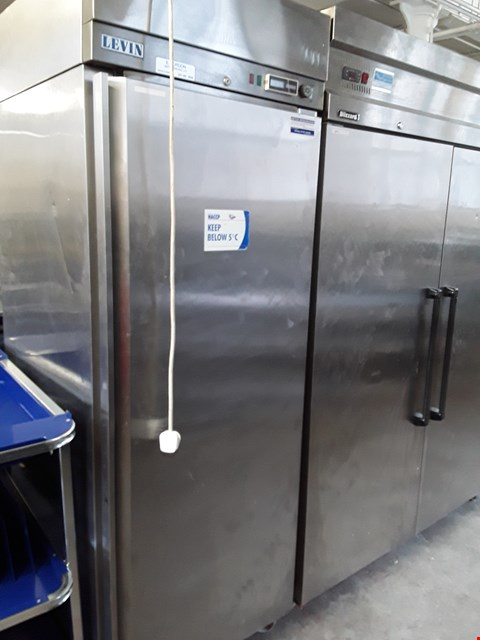 Lot 1 COMMERCIAL STAINLESS STEEL LEVIN FRIDGE