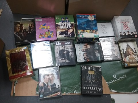 Lot 12070 A BOX OF APPROXIMATELY 18 ASSORTED DVD/BOXSETS TO INCLUDE A ON THE BUSES DVD AND A LIE TO ME DVD