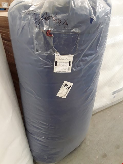 Lot 113 DESIGNER BAGGED BLUE FABRIC DOUBLE FUTON MATTRESS