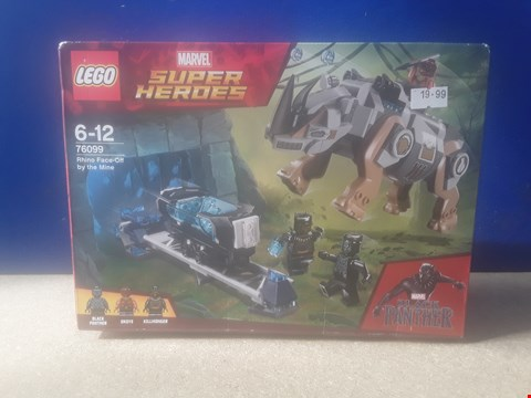 Lot 5016 BOXED LEGO MARVEL SUPER HEROES: BLACK PANTHER - RHINO FACE-OFF BY THE MINE