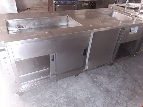 Lot 24 LARGE COMMERCIAL SERVERY UNIT WITH HEATED CUPBOARD BASE & BAIN MARIE TOP