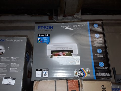Lot 111 2X EPSON XP-247 WIFI PRINTER