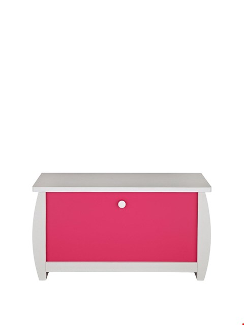 Lot 3319 BRAND NEW BOXED ORLANDO FRESH WHITE AND PINK OTTOMAN (1 BOX) RRP £69