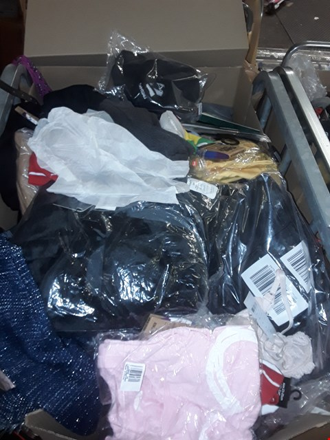 Lot 9876 CAGE OF UNPROCESSED DESIGNER CLOTHING ITEMS (CAGE NOT INCLUDED)