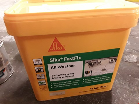 Lot 27 15kg TUB OF SILKS FASTFIX ALL WEATHER SELF SETTING PAVING JOINTING COMPOUND
