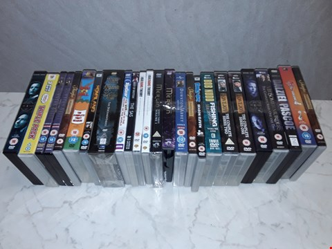 Lot 6103 LOT OF APPROXIMATELY 25 ASSORTED DVDS TO INCLUDE BIG BANG THEORY, KING OF THE HILL AND DOWNTOWN ABBEY