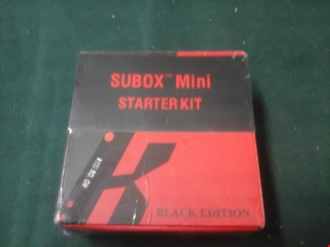 Lot 1060 BOXED SUBOX MINI VAPING STARTER KIT BLACK EDITION